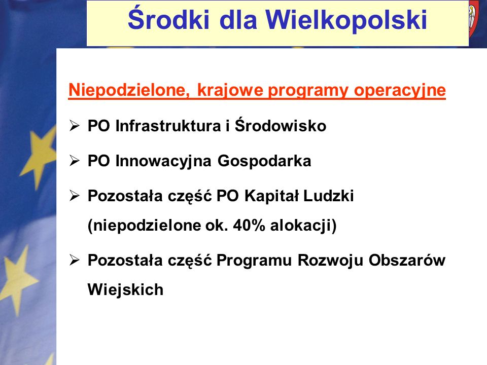 Środki dla Wielkopolski
