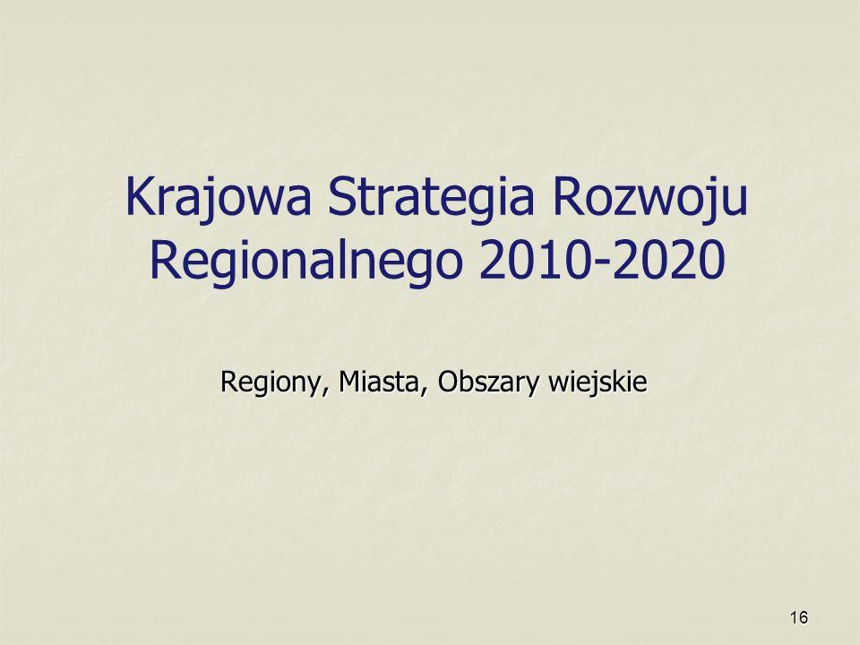Krajowa Strategia Rozwoju Regionalnego 2010-2020