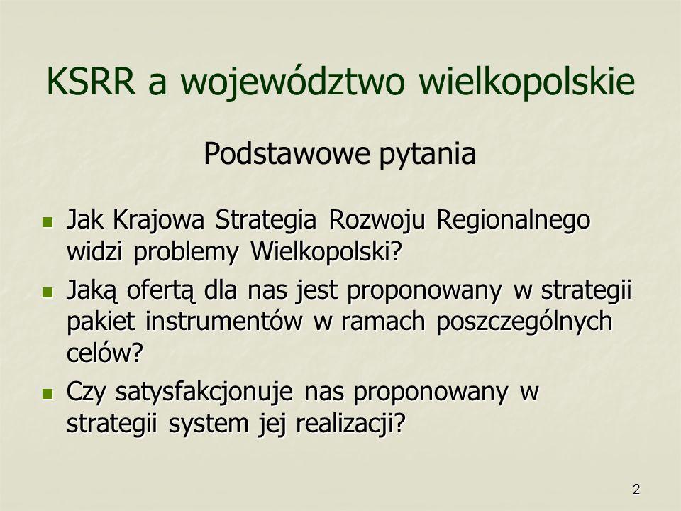 KSRR a województwo wielkopolskie