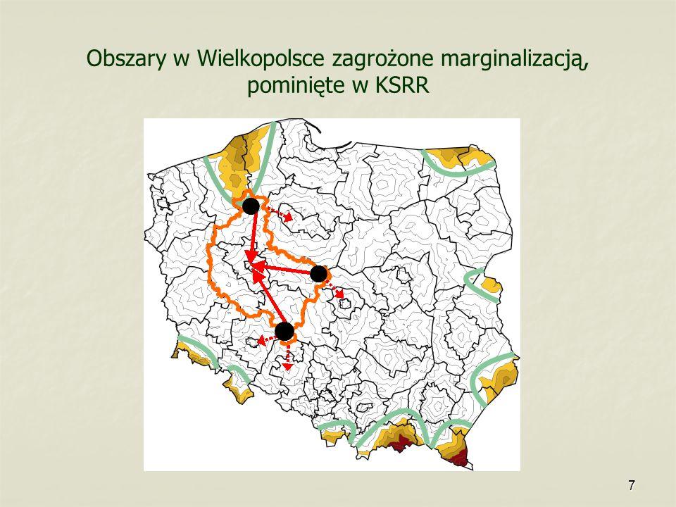 Obszary w Wielkopolsce zagrożone marginalizacją, pominięte w KSRR