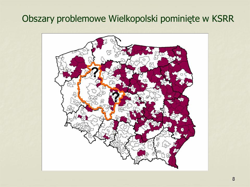 Obszary problemowe Wielkopolski pominięte w KSRR