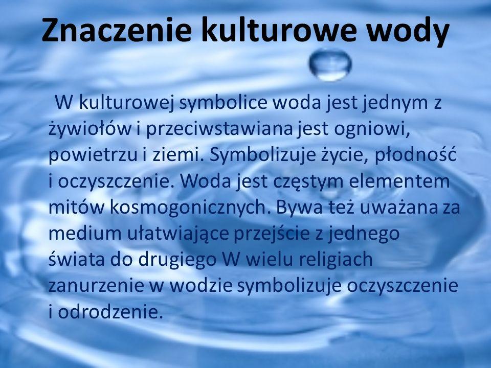 Znaczenie kulturowe wody