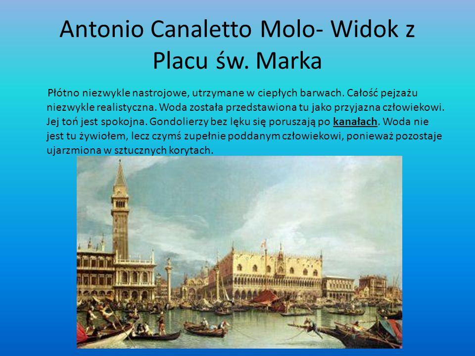 Antonio Canaletto Molo- Widok z Placu św. Marka