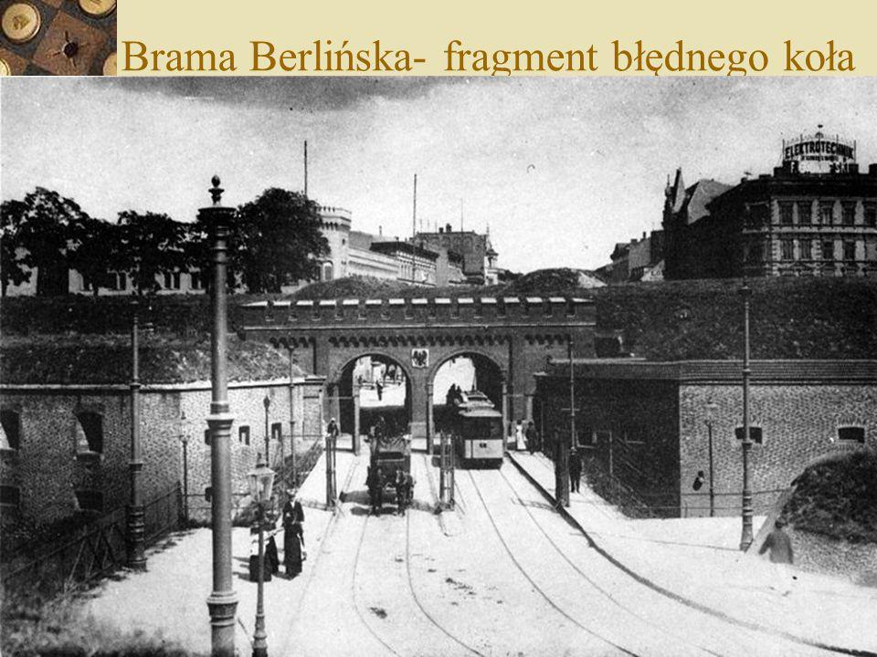Brama Berlińska- fragment błędnego koła