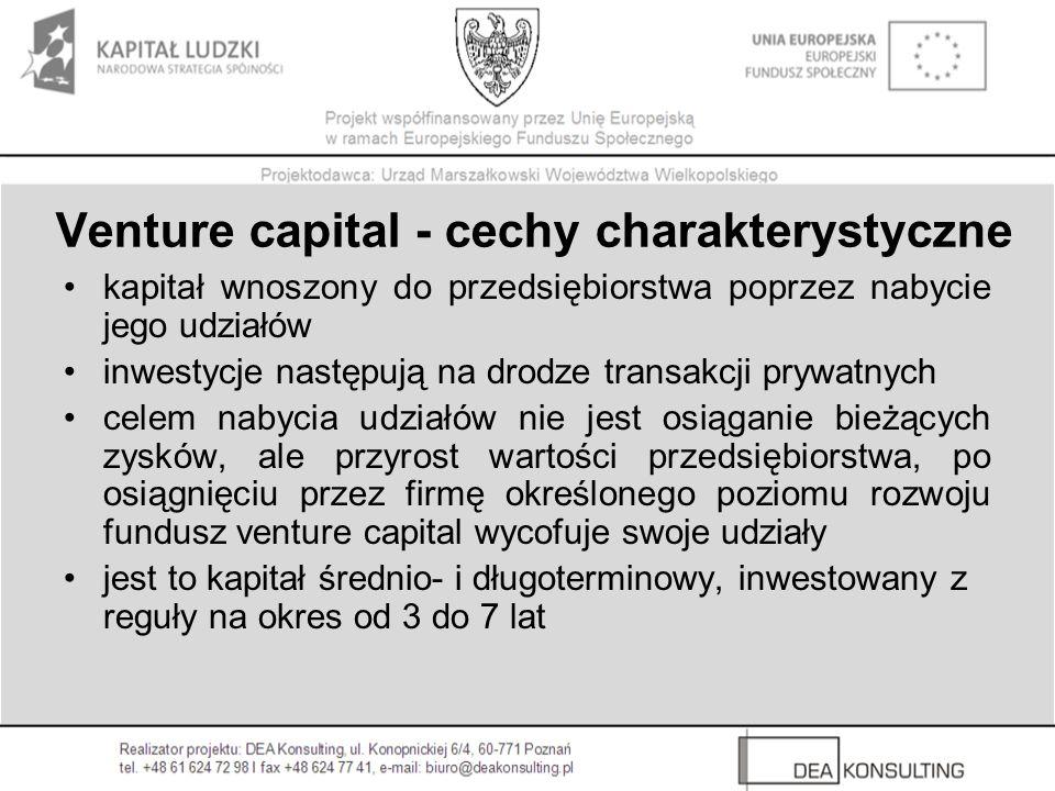 Venture capital - cechy charakterystyczne