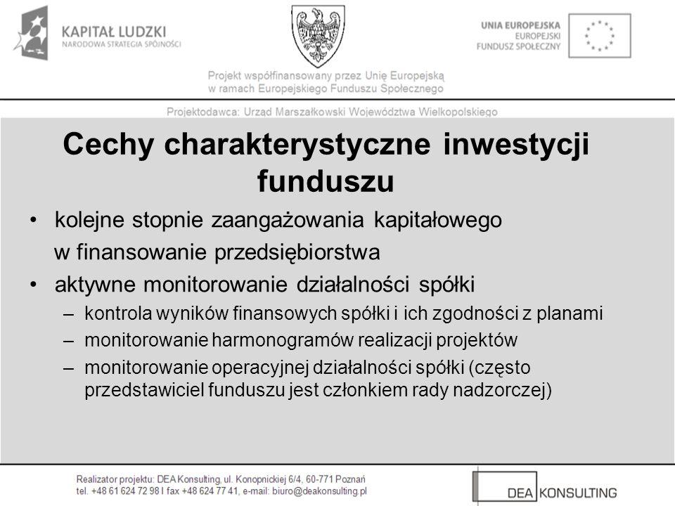 Cechy charakterystyczne inwestycji funduszu