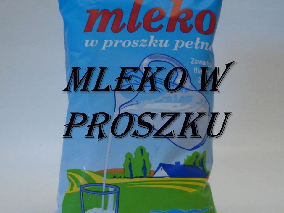 Mleko w proszku