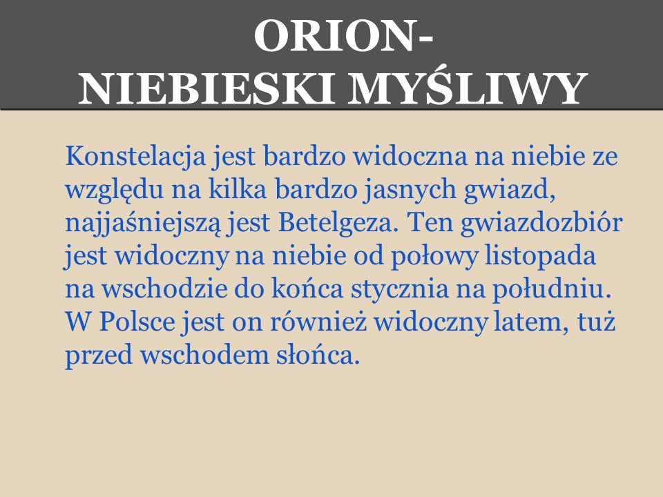 ORION- NIEBIESKI MYŚLIWY