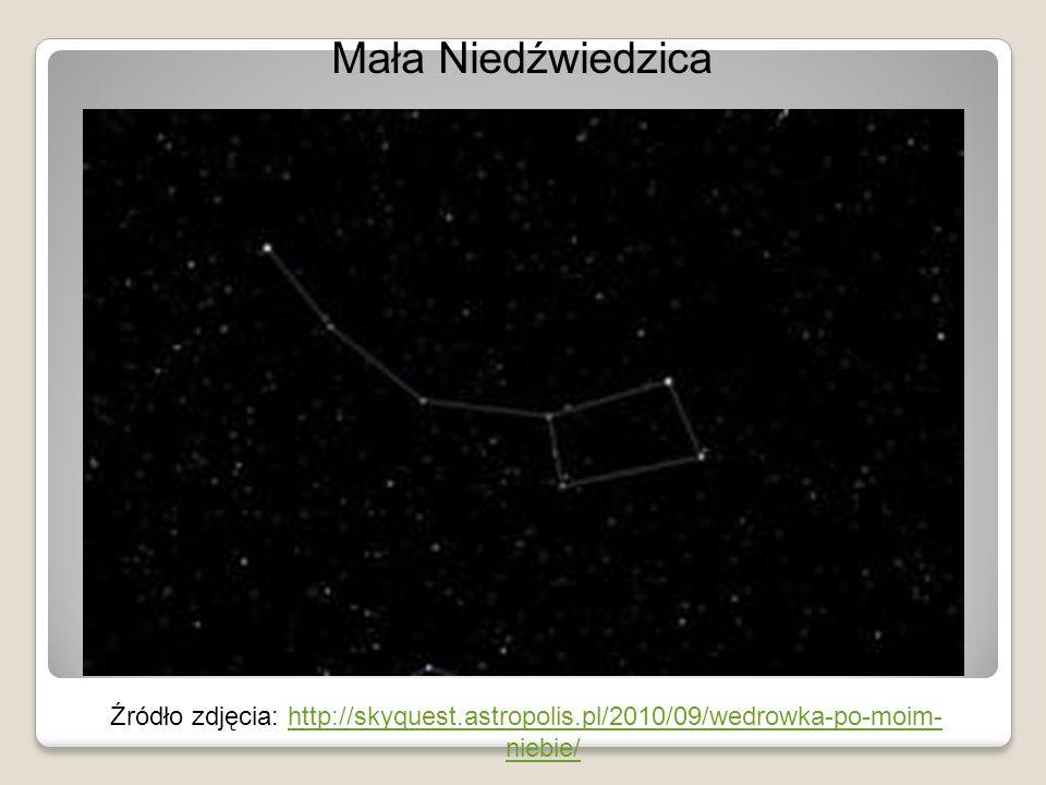 Mała Niedźwiedzica Źródło zdjęcia: http://skyquest.astropolis.pl/2010/09/wedrowka-po-moim-niebie/