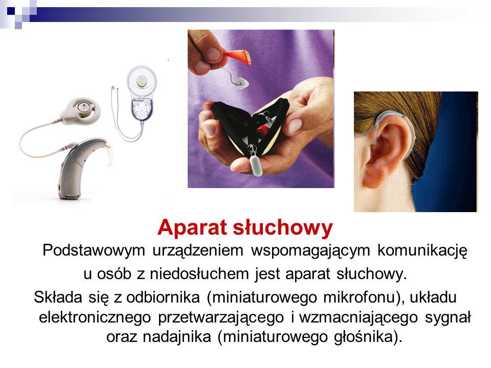 Aparat słuchowy Podstawowym urządzeniem wspomagającym komunikację
