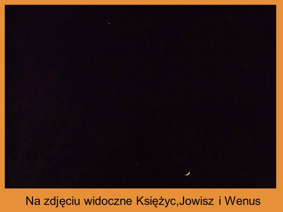 Na zdjęciu widoczne Księżyc,Jowisz i Wenus