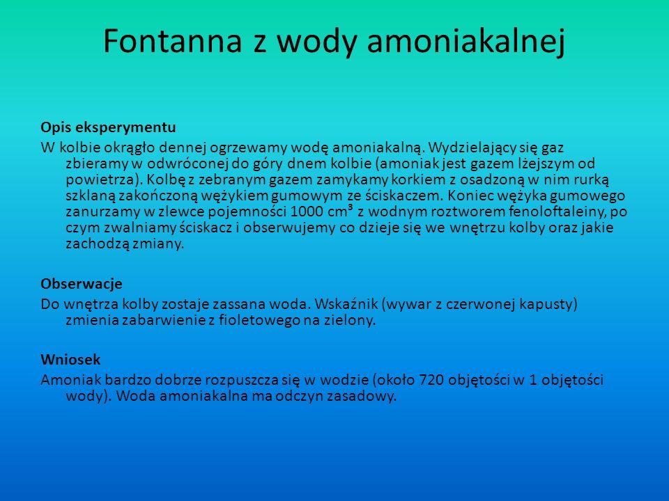 Fontanna z wody amoniakalnej