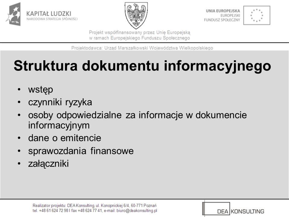 Struktura dokumentu informacyjnego