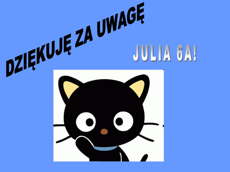DZIĘKUJĘ ZA UWAGĘ JULIA 6A!