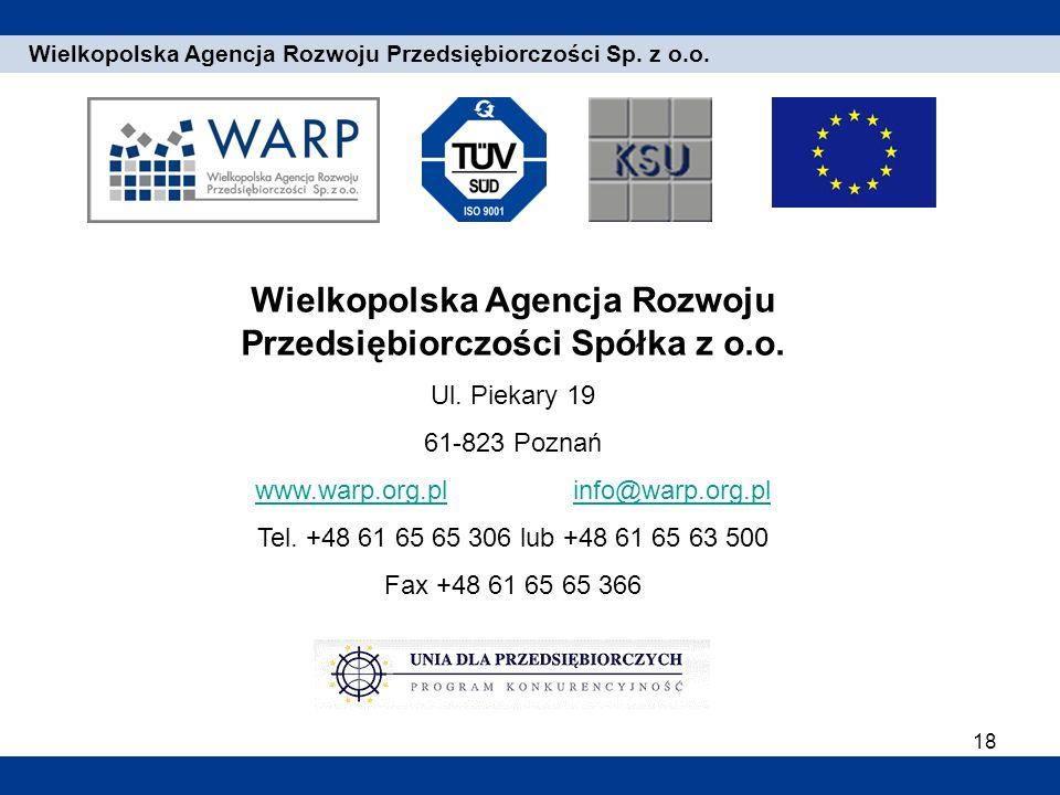 Wielkopolska Agencja Rozwoju Przedsiębiorczości Spółka z o.o.