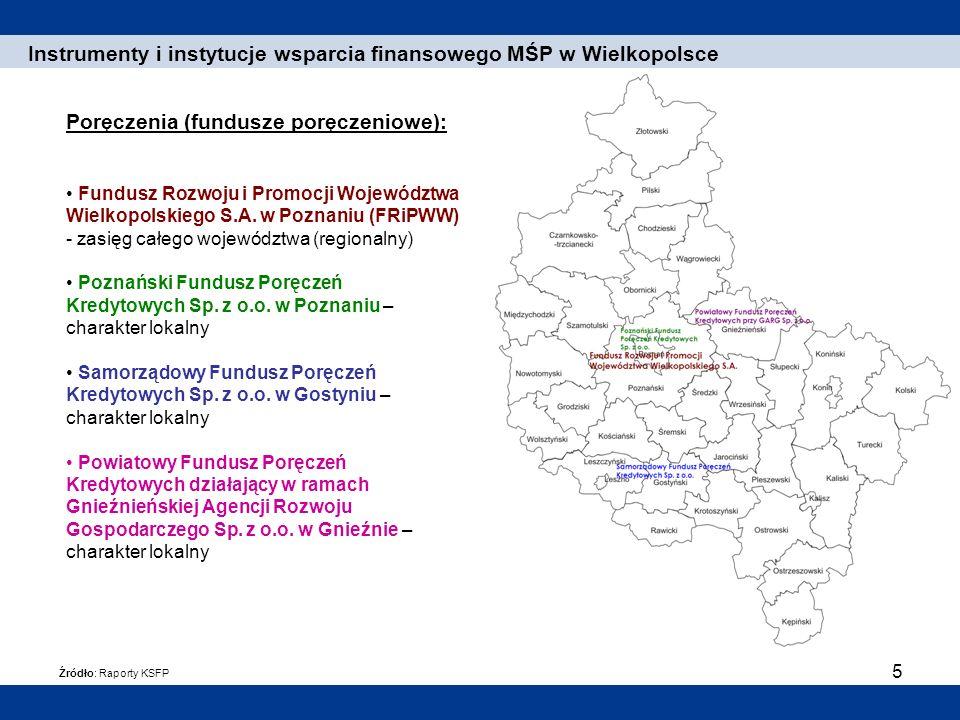 Instrumenty i instytucje wsparcia finansowego MŚP w Wielkopolsce