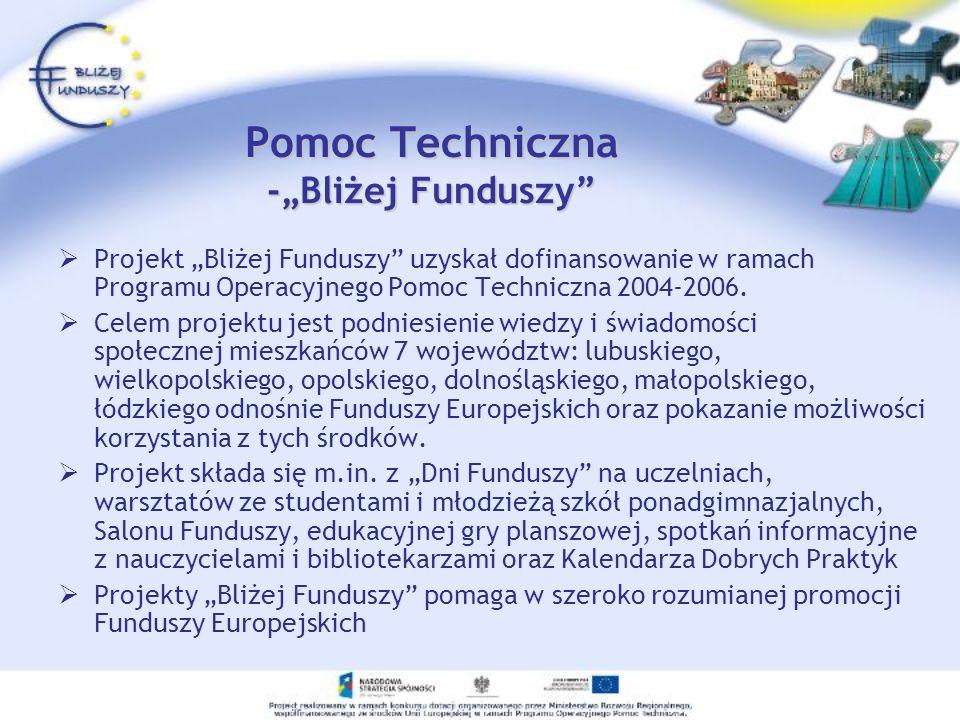 """Pomoc Techniczna -""""Bliżej Funduszy"""
