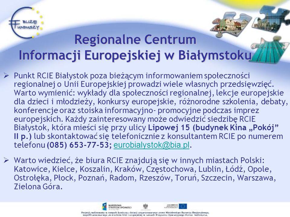 Regionalne Centrum Informacji Europejskiej w Białymstoku