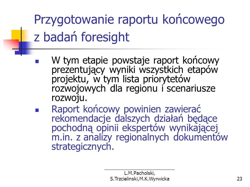 Przygotowanie raportu końcowego z badań foresight