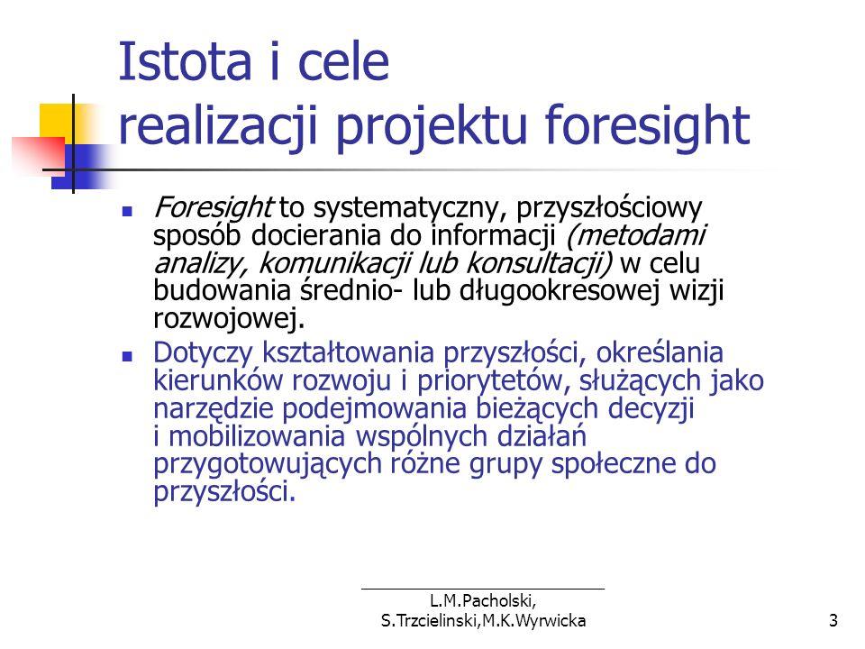 Istota i cele realizacji projektu foresight