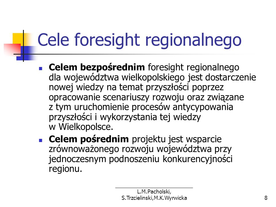 Cele foresight regionalnego