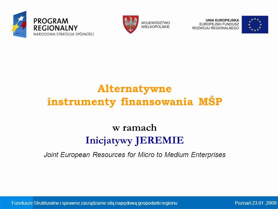 instrumenty finansowania MŚP