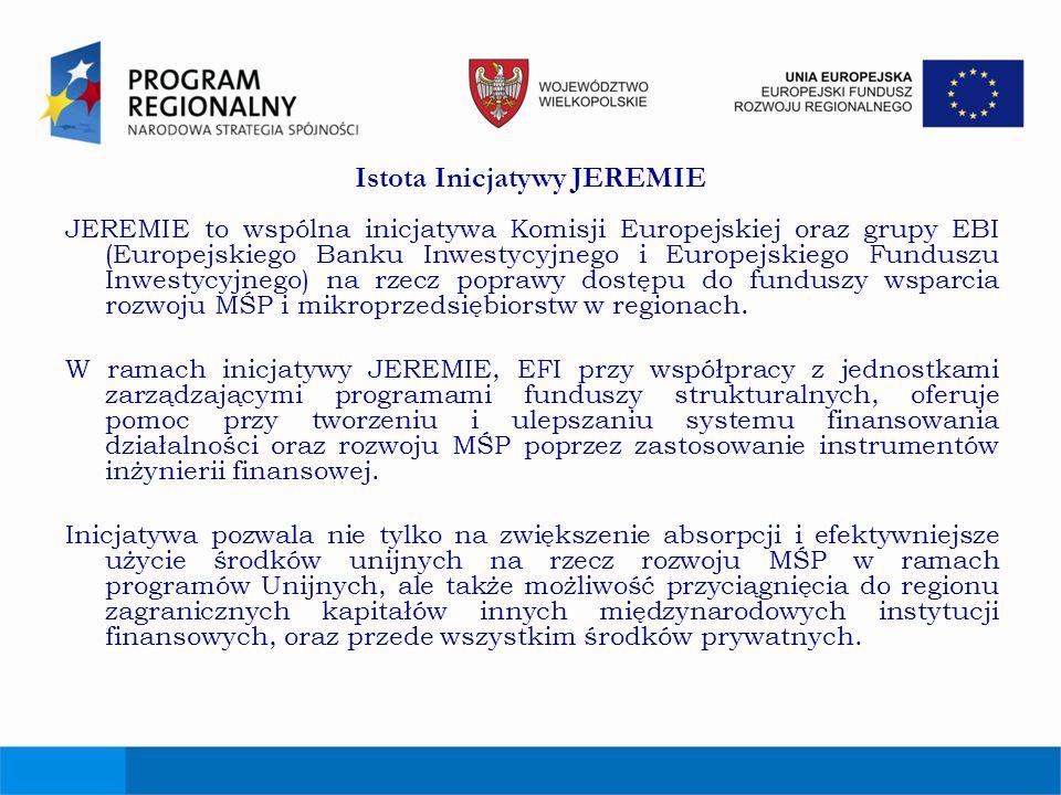 Istota Inicjatywy JEREMIE