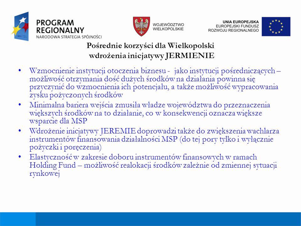 Pośrednie korzyści dla Wielkopolski wdrożenia inicjatywy JERMIENIE