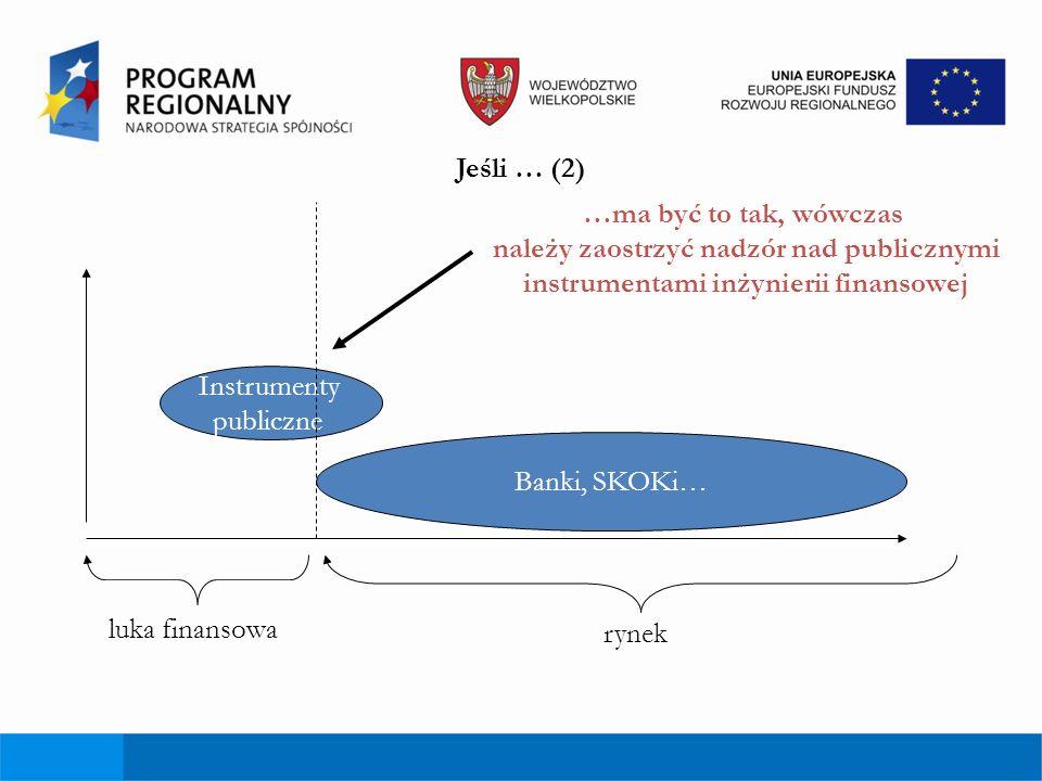 Jeśli … (2) …ma być to tak, wówczas należy zaostrzyć nadzór nad publicznymi instrumentami inżynierii finansowej.