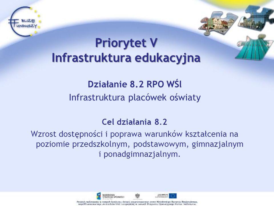 Priorytet V Infrastruktura edukacyjna