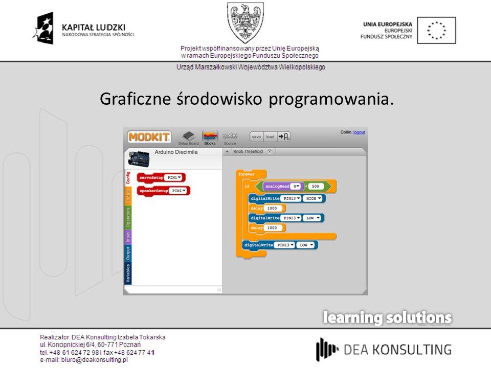 Graficzne środowisko programowania.