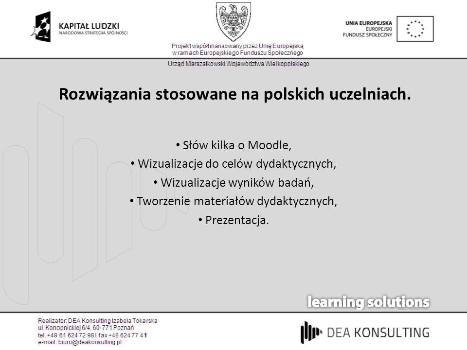 Rozwiązania stosowane na polskich uczelniach.