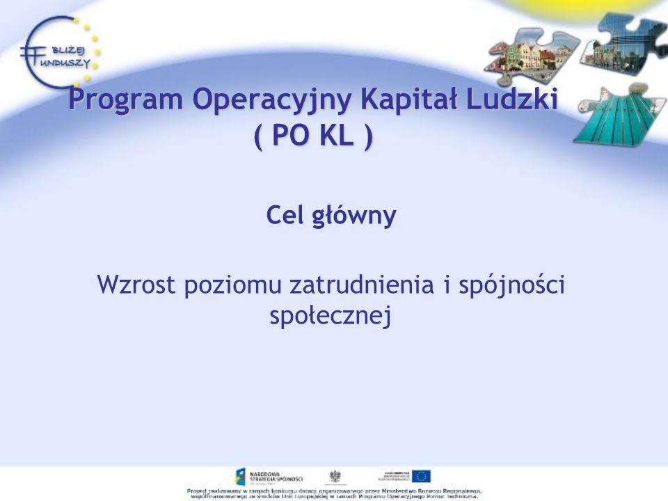 Program Operacyjny Kapitał Ludzki ( PO KL )