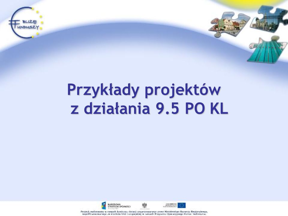 Przykłady projektów z działania 9.5 PO KL