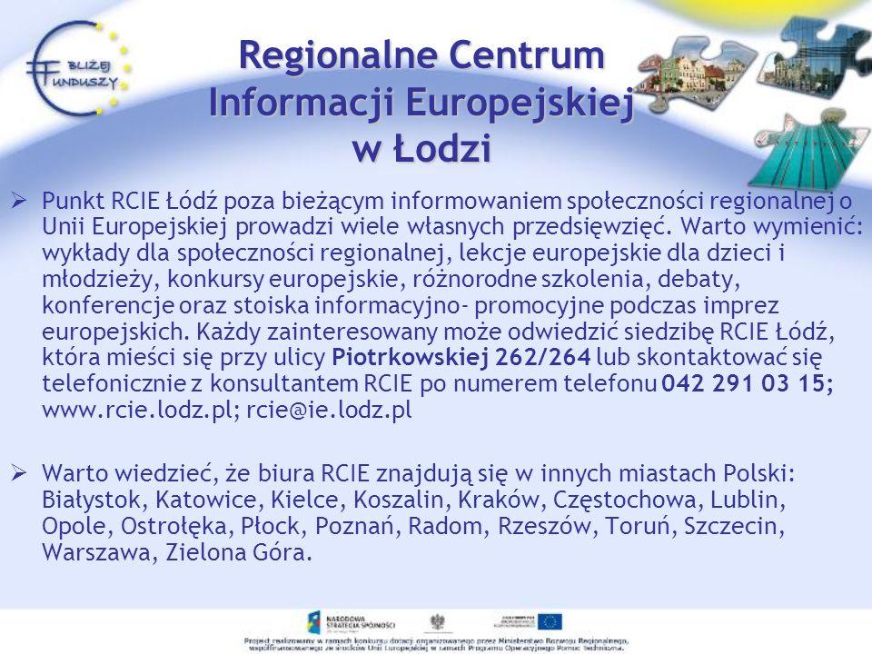 Regionalne Centrum Informacji Europejskiej w Łodzi