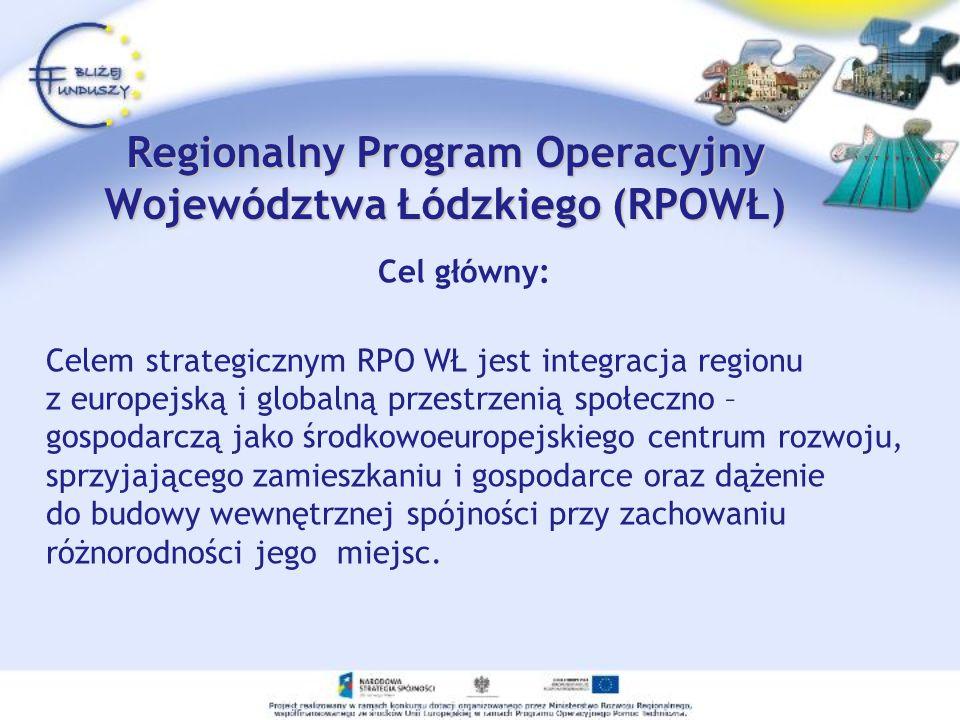 Regionalny Program Operacyjny Województwa Łódzkiego (RPOWŁ)