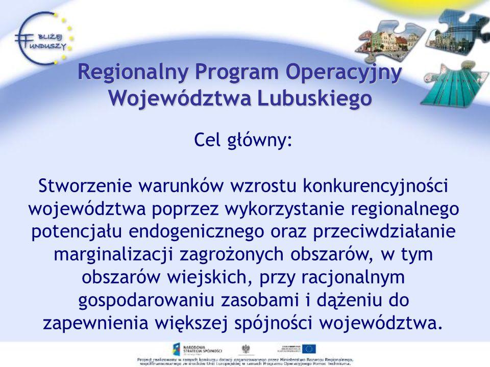Regionalny Program Operacyjny Województwa Lubuskiego