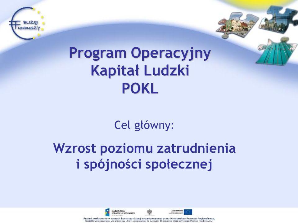 Program Operacyjny Kapitał Ludzki POKL