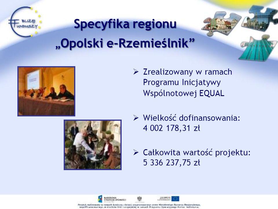 """Specyfika regionu """"Opolski e-Rzemieślnik"""