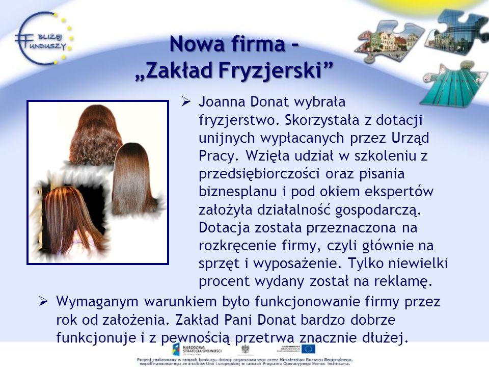 """Nowa firma – """"Zakład Fryzjerski"""