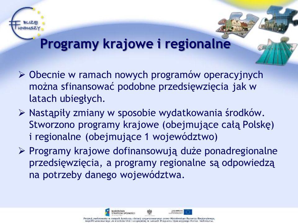 Programy krajowe i regionalne