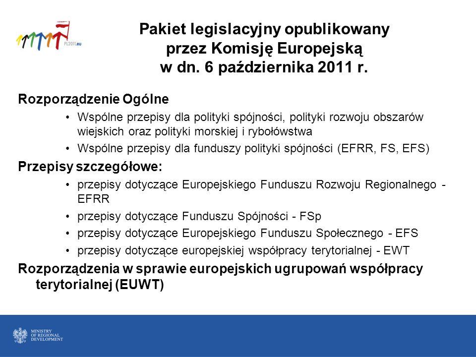 Pakiet legislacyjny opublikowany przez Komisję Europejską w dn