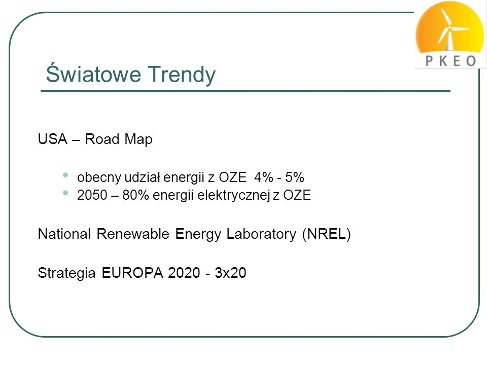 Światowe Trendy USA – Road Map