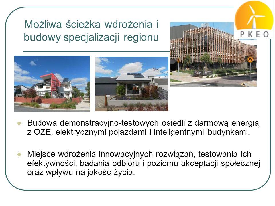 Możliwa ścieżka wdrożenia i budowy specjalizacji regionu
