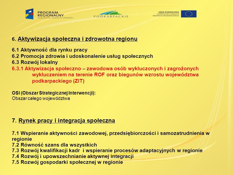7. Rynek pracy i integracja społeczna