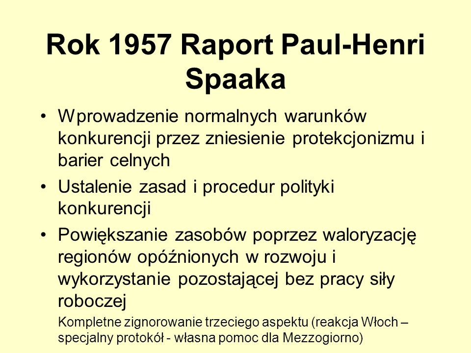 Rok 1957 Raport Paul-Henri Spaaka