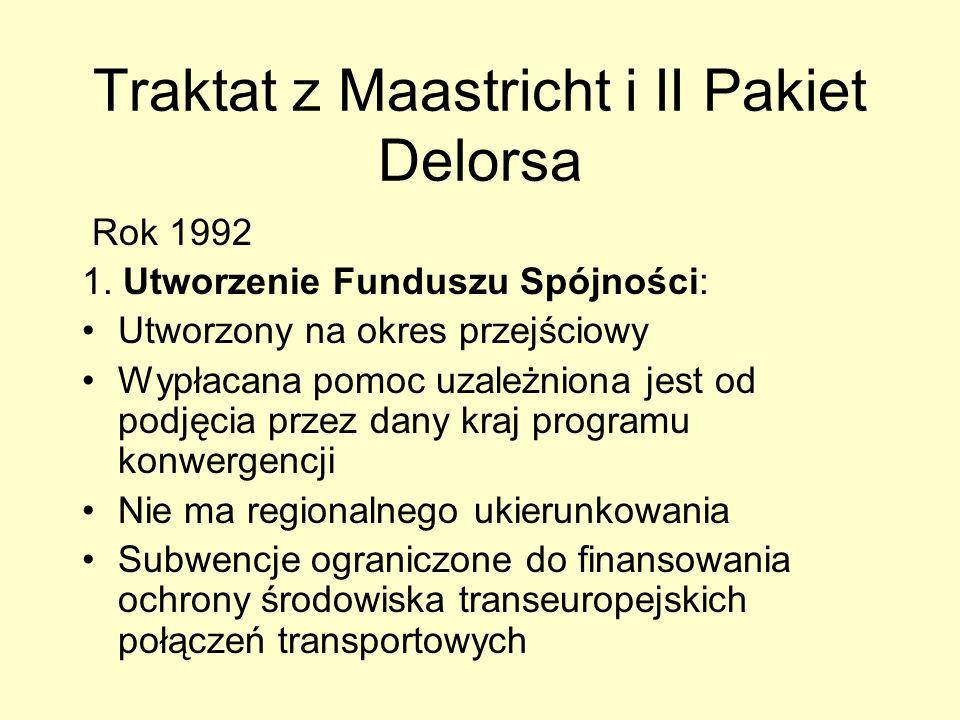 Traktat z Maastricht i II Pakiet Delorsa
