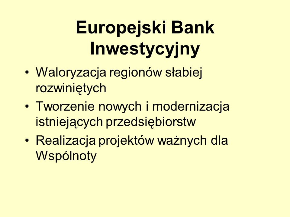 Europejski Bank Inwestycyjny