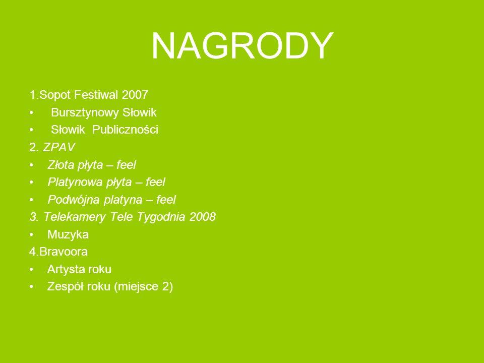 NAGRODY 1.Sopot Festiwal 2007 Bursztynowy Słowik Słowik Publiczności