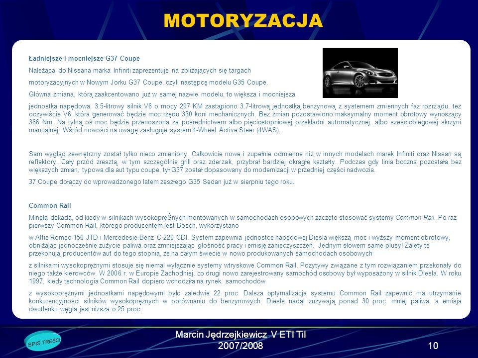 Marcin Jędrzejkiewicz V ETI TiI 2007/2008